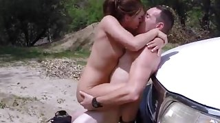 Black chick white dick blowjob and