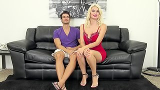 Cute blonde chick receives the cock into her sweet shaved cunny