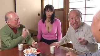 Big tits Japanese milf enjoys getting her twat teased with a vibrator