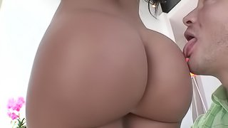 Thick latina gets white dude to fuck her hard