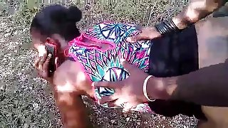 Haitian public banging Anal while on The Phone