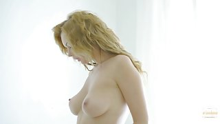 Kinky curly blonde gets annihilated by a young stallion