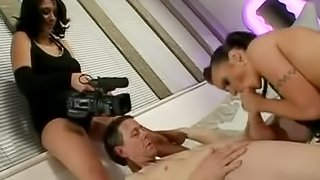 A voyeur wife shoots her husband fucking with his lover