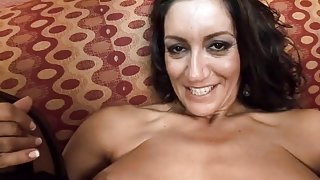 Mother I'd Like To Fuck Persia Monir receives a creampie by a darksome ramrod