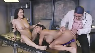Doctor leads experiment on babes tight pussies and asses